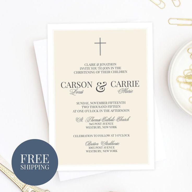 11 best Baptism Invites images on Pinterest | Christening ...