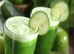 Suco de Pepino com Limão e Gengibre Detox para Queimar Gordura Abdominal.