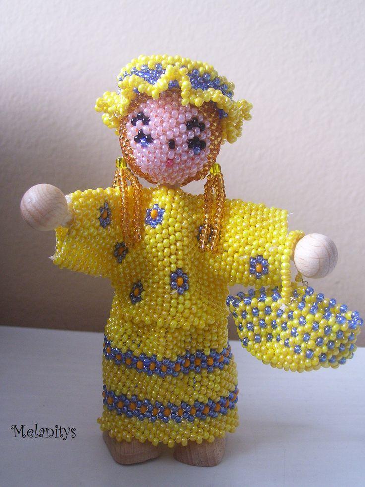 Lili, création personnelle inspirée des Personnages en perles de rocailles de Murielle Bonnelles