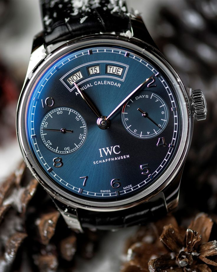 Ready for the Holiday Season with the IWC Portugieser Annual Calendar. Add it to your wish list!  Photo by: Roberto Iván Cano