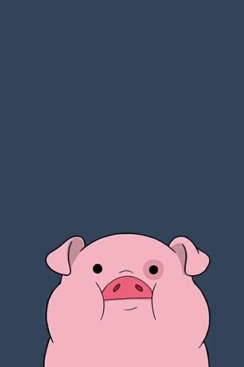 Imagem de pig, wallpaper, and pink