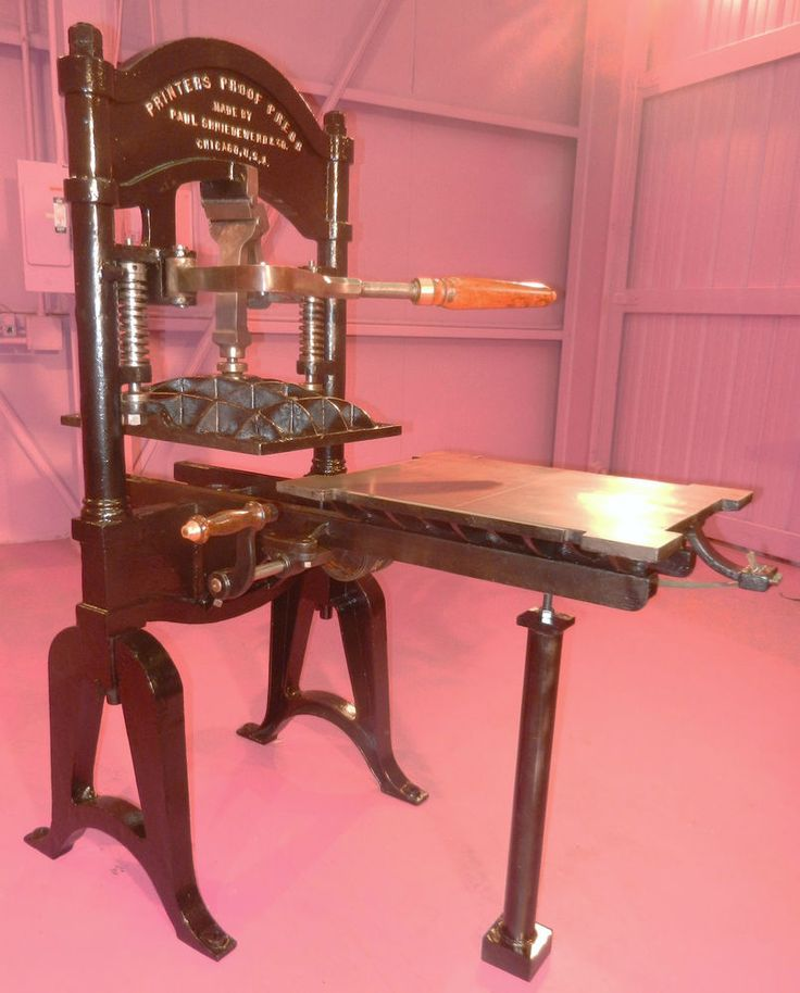 ANTIQUE 17x22 WASHINGTON HAND LETTERPRESS PRINTING PRESS