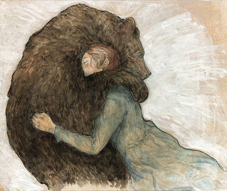 Картинки девочка с медведем нарисованные, про