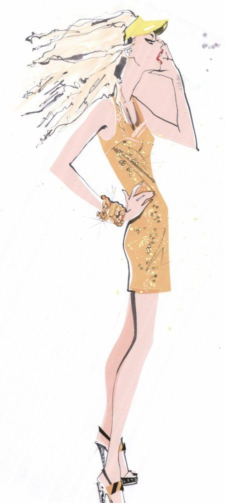 Jacqueline Bisset illustration