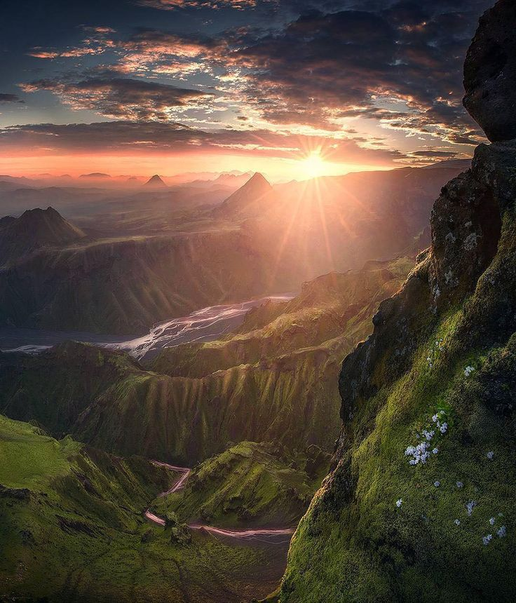 2am sunrise high up a mountain in the highlands of Iceland. Photo by: @maxrivephotography Explore. Share. Inspire