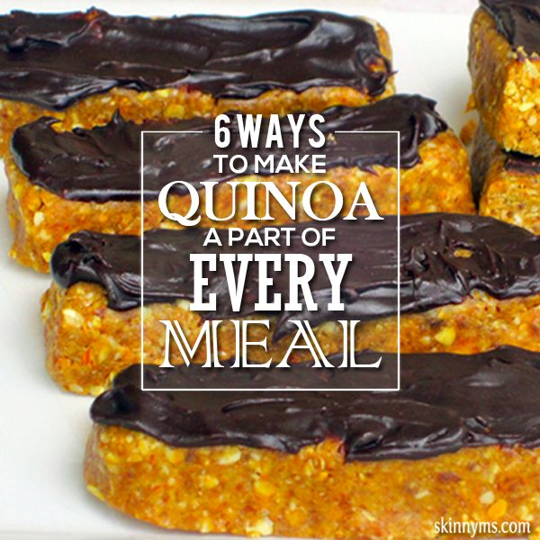 6 Ways to Make Quinoa a Part of Every Meal--quinoa is incredibly versatile!  #quinoa #mealplanning #healthy #recipes