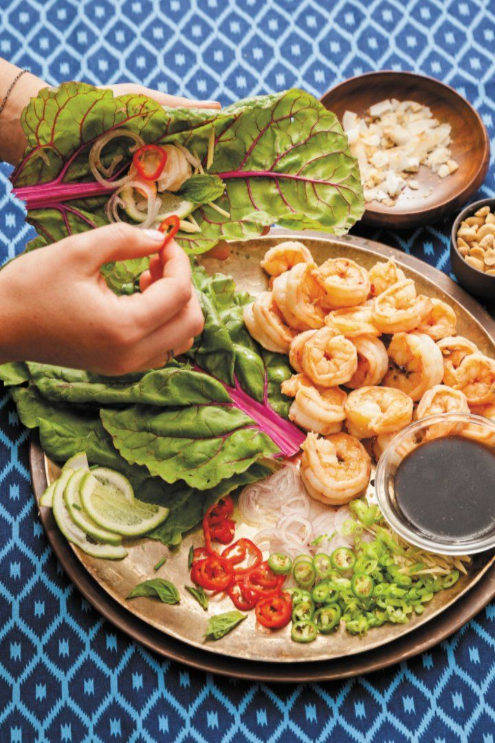 Try These Protein-Packed, Healthy Thai Shrimp Wraps From a Yogi's Kitchen