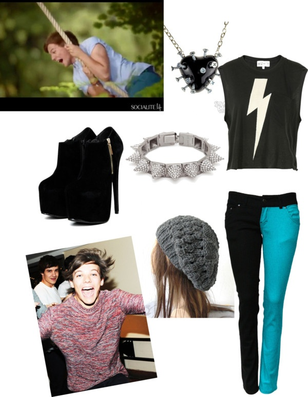 """""""untitled 5- Louie Tomlinson- punk"""" by princess-avery-payne ❤ liked on Polyvore"""