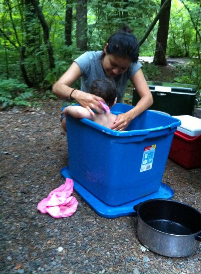 Tips for camping with a baby.                                                                                                                                                                                 More