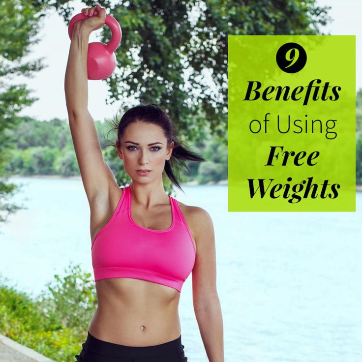 9 Benefits of Using Free Weights - If your strength workout is limited to resistance machines, it's time to get up and grab some weights. Using free weights is the surest way to strengthen your muscles, burn calories, and become better at pretty much everything you do.