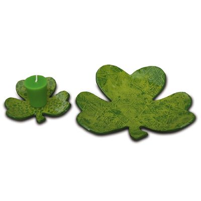Clay Shamrocks make great candy dishes, candle holders and more.