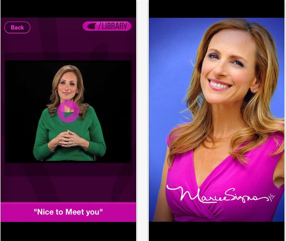 Marlee Signs - Learn Sign Language from an App. Good place to start learning again and revive my memory!