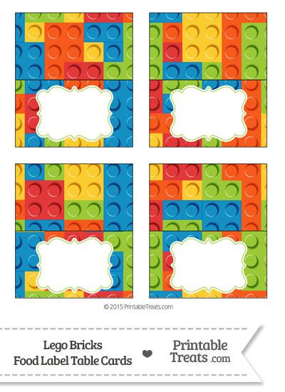 Lego Bricks Food Labels from PrintableTreats.com