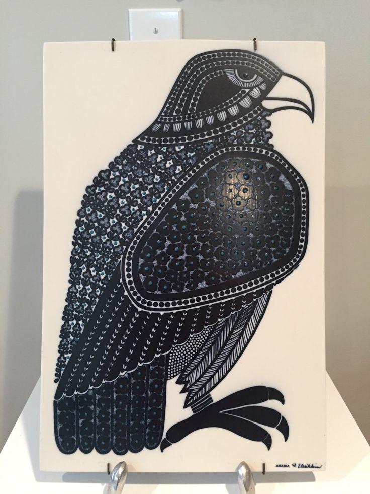 Huge Rare Arabia Finland Porcelain Pottery Bird Tile Plaque by R Uosikkinen by ModernDesignResource on Etsy https://www.etsy.com/listing/242666902/huge-rare-arabia-finland-porcelain