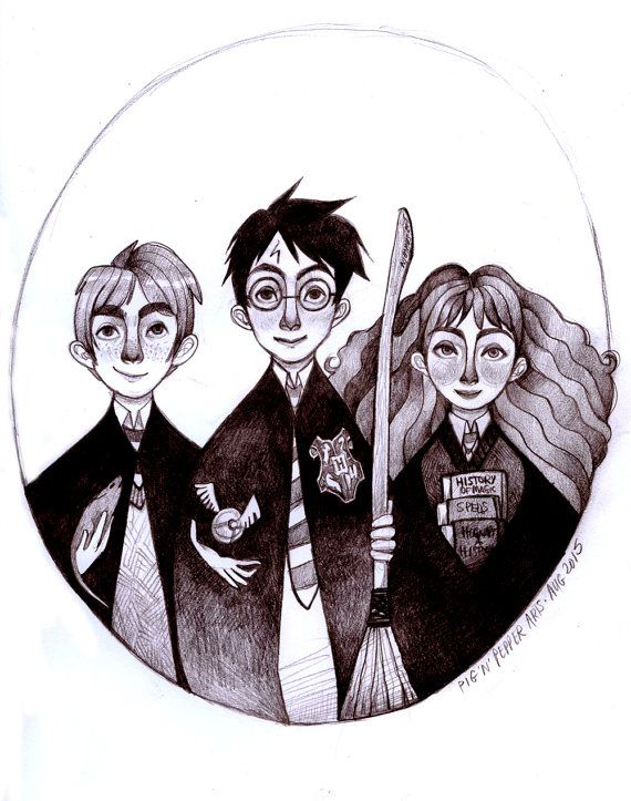 Harry Potter and the Sorcerer's Stone Original by PigandPepperArts
