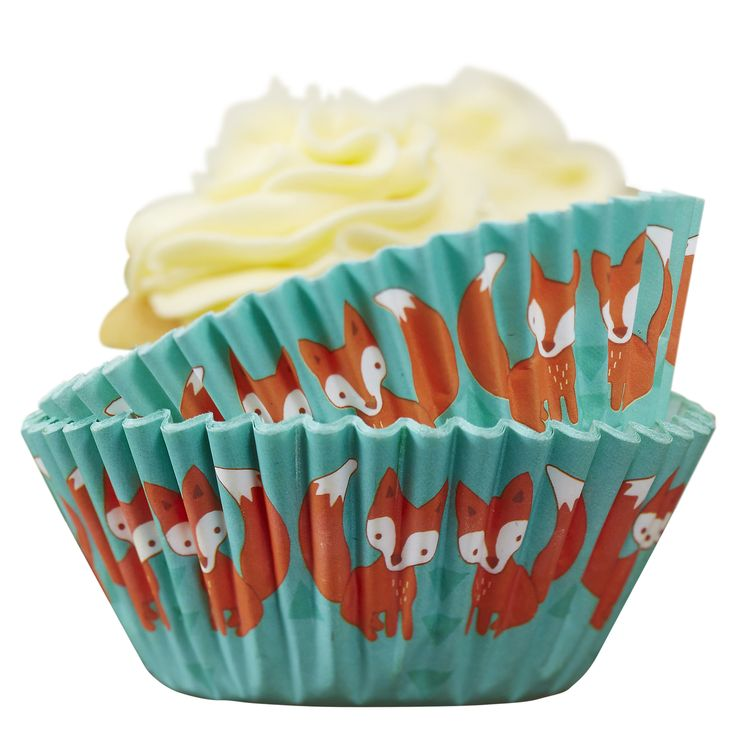 Fox Cupcake Baking Cases - Woodland Friends