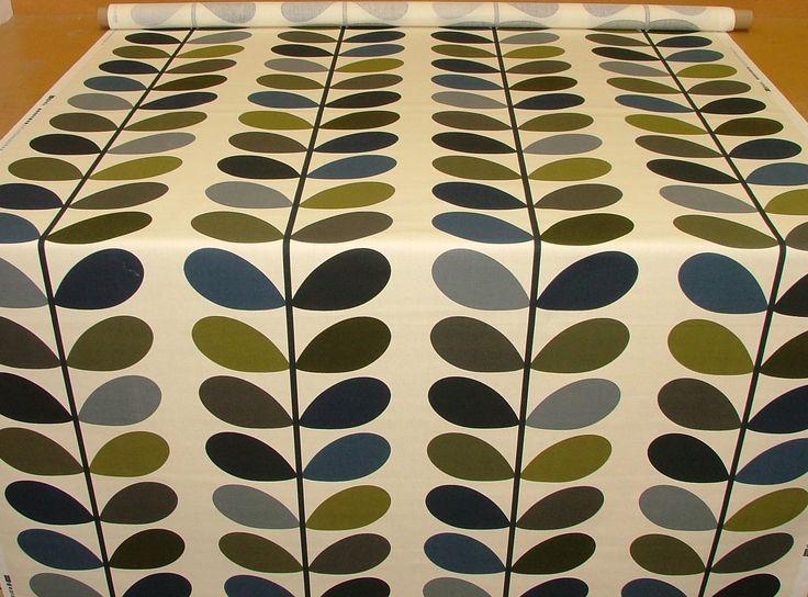 Orla Kiely Multi Stem Moss Curtain Blind Upholstery Fabric