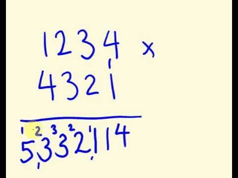 Fast Maths Calculation - Multiply four digit numbers FAST!