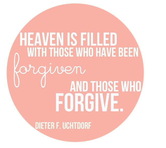 forgive, even yourself