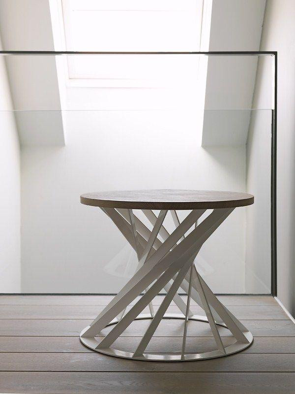 Round Wooden Coffee table TWIST INTERNI EDITION