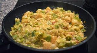 Voor over de pasta: Prei in monchousaus met spekjes en crème fraîche