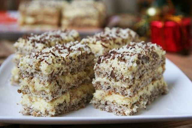 Pihe-puha diós sütemény különleges krémekkel töltve - www.kiskegyed.hu