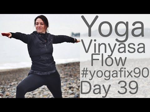 Yoga Vinyasa Flow Total Body Workout Day 39 Yoga Fix 90 with Lesley Fightmaster - YouTube