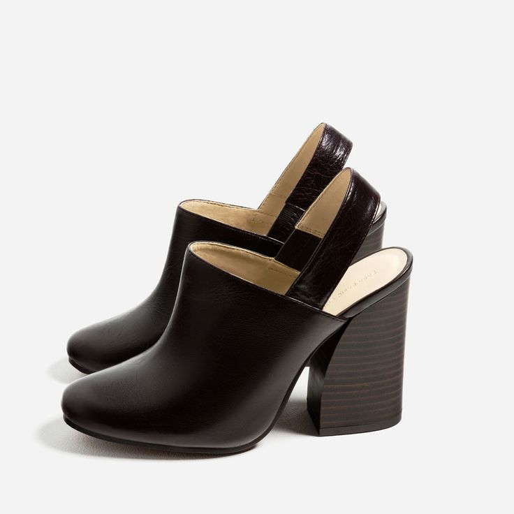 LEATHER SLINGBACK HIGH HEEL SHOES-High-heels-SHOES-WOMAN | ZARA Ireland