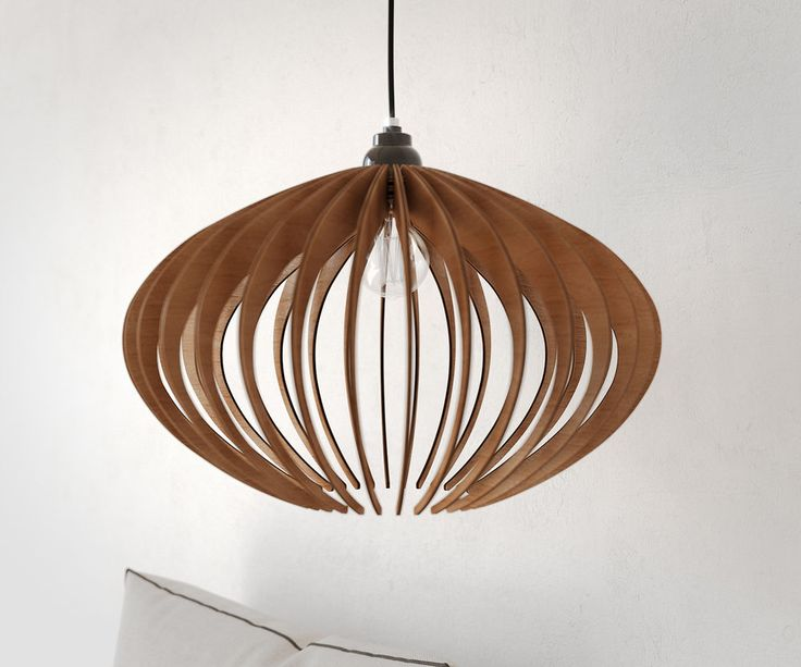 Pendant light ceiling fixture wooden lasercut lamp handmade chandelier modern ellipsis dezaart pendantlight