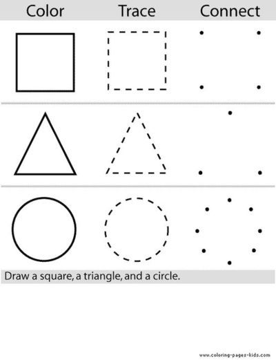 shape trace printables & more