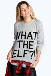 Judy What The Elf?! Christmas Jumper Get wonderful discounts up to 60% Off at Boohoo with Coupon and Promo Codes.