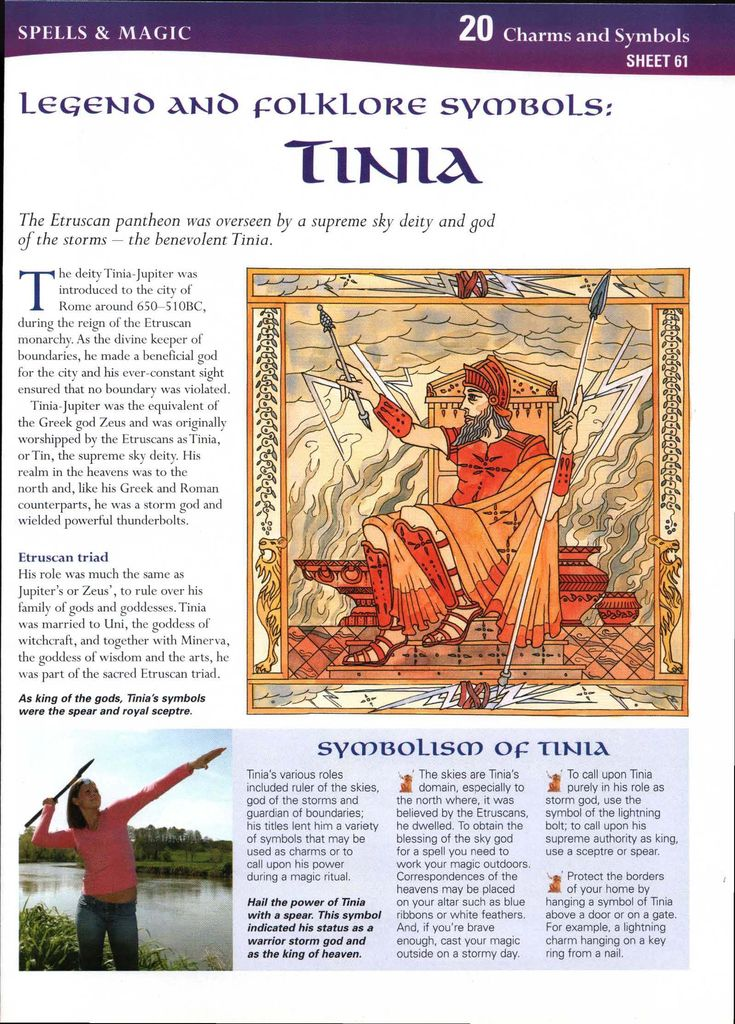 Legend and Folklore Symbols: Tinia