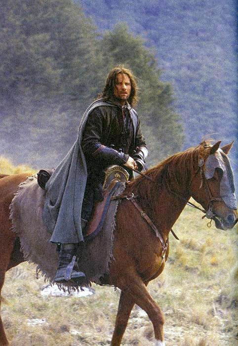 Aragorn & Hasufel.... Lord of the Rings is awesome!