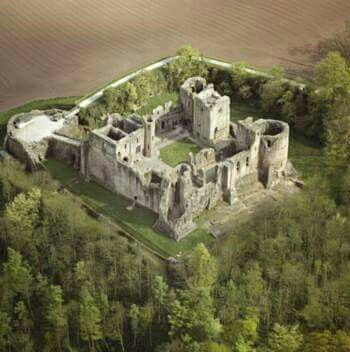 """Goodrich Castle; Ross-on-Wye, Wales. It was once held by the powerful de Clare family notably Gilbert, Earl of Pembroke and Richard """"Strongbow"""", his son. Later, it passed to the equally powerful Marshall family, including William, Earl of Pembroke."""