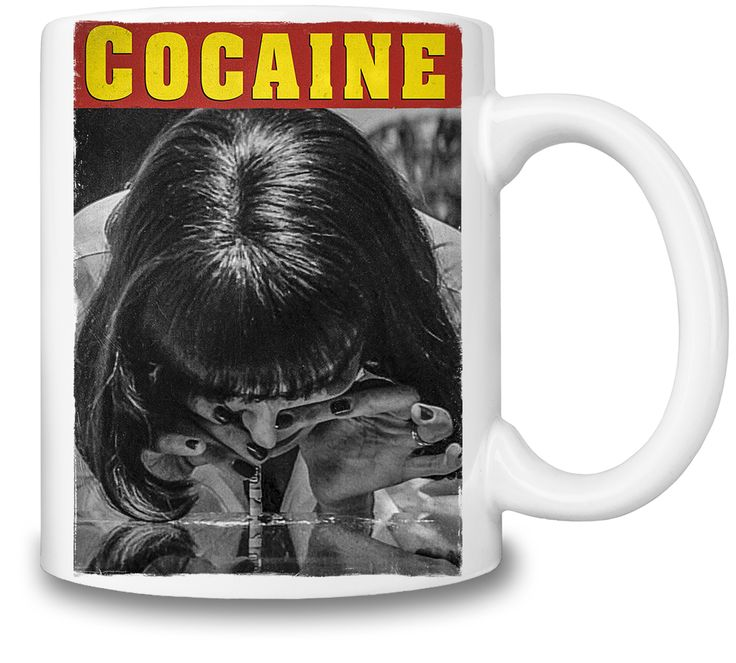 Pulp Fiction Coke Blow Coffee Mug
