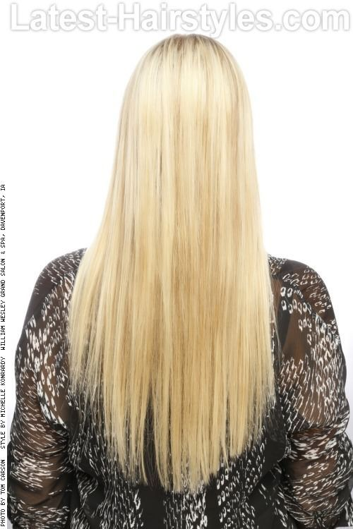 how to cut long hair straight