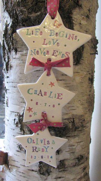 Jamali-Annay ceramic hearts - new baby gifts