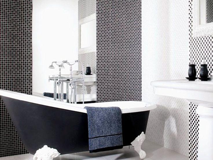 Venis 'Minidual Nero' Mosaic Tile | Concave and convex pattern | Ceramo