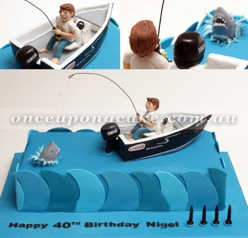 fishing boat cake - Google Search