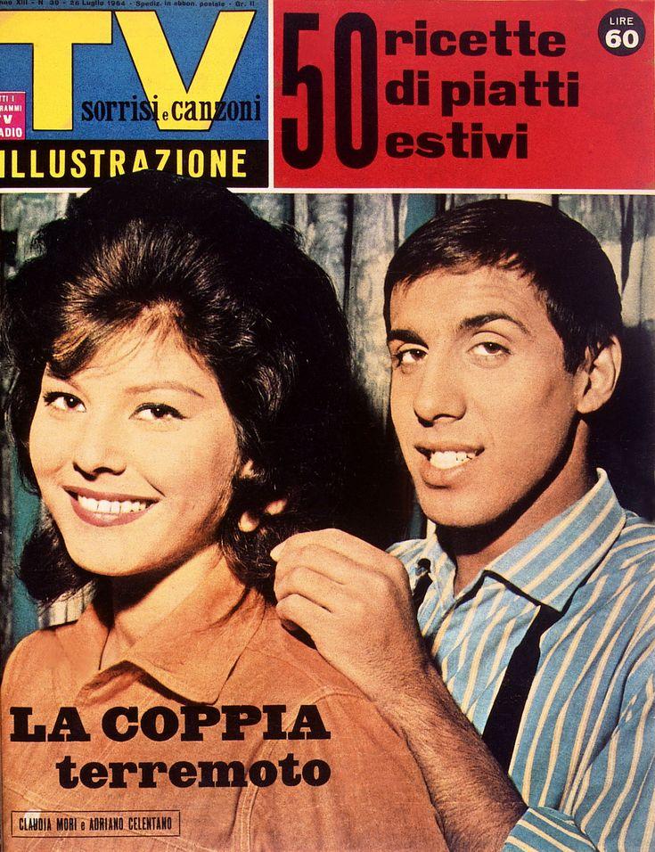Sorrisi e Canzoni TV 1964 Claudia Mori e Adriano Celentano - La coppia terremoto