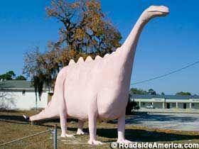 Pepto-Bismol Pink Dinosaur in Spring Hill, Florida.