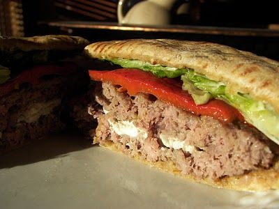 FETA STUFFED BURGER | Burgers | Pinterest
