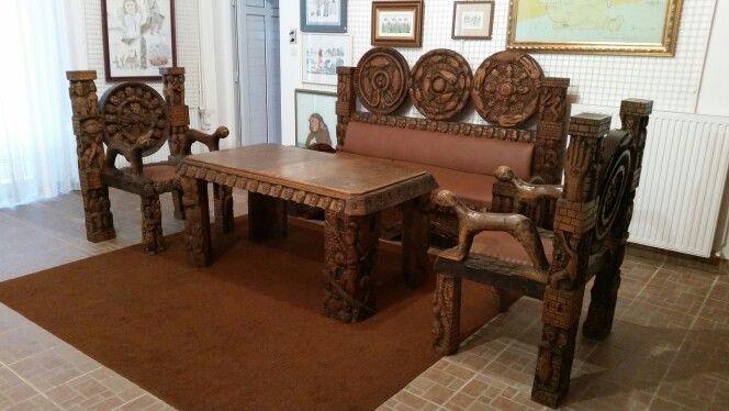 Hand carved furniture