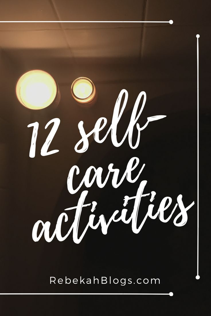 12 self care activities!!! It's so important to set aside time for yourself and these are some of my fav things to do!