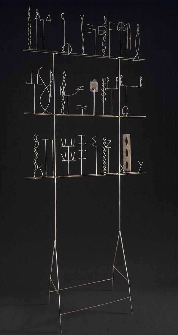 Fausto Melotti  Alfabeto, 1971 ottone, cm 187 x 80 x 29