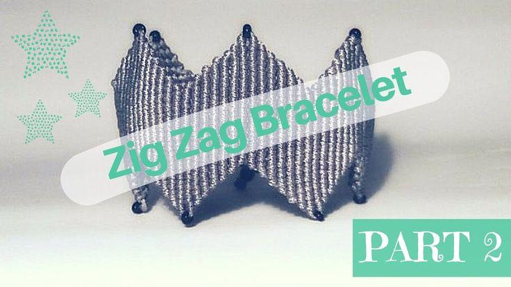 DIY Micromacrame Bracelet Part 2 | Βραχιόλι Μακραμέ με ZigZag Μέρος 2 Je...