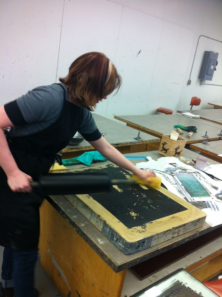 Stone Lithography, my favourite type of printmaking, even when I have to fight to get back the image from the stone. University of Alberta printmaking studios, 2016.