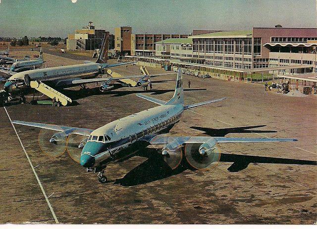 #Johannesburg - Jan Smuts International Airport 1960's (OR Tambo International Airport) (© http://chocolattnegro.blogspot.com/)
