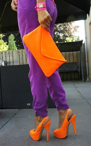 purple + orange