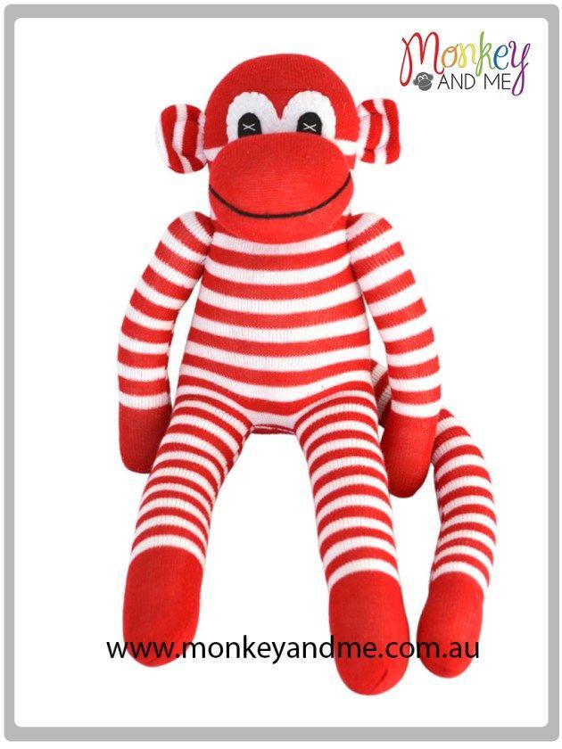 Fred the Sock Monkey  Adopt over at http://monkeyandme.com.au #sockmonkeys #gifts #toys